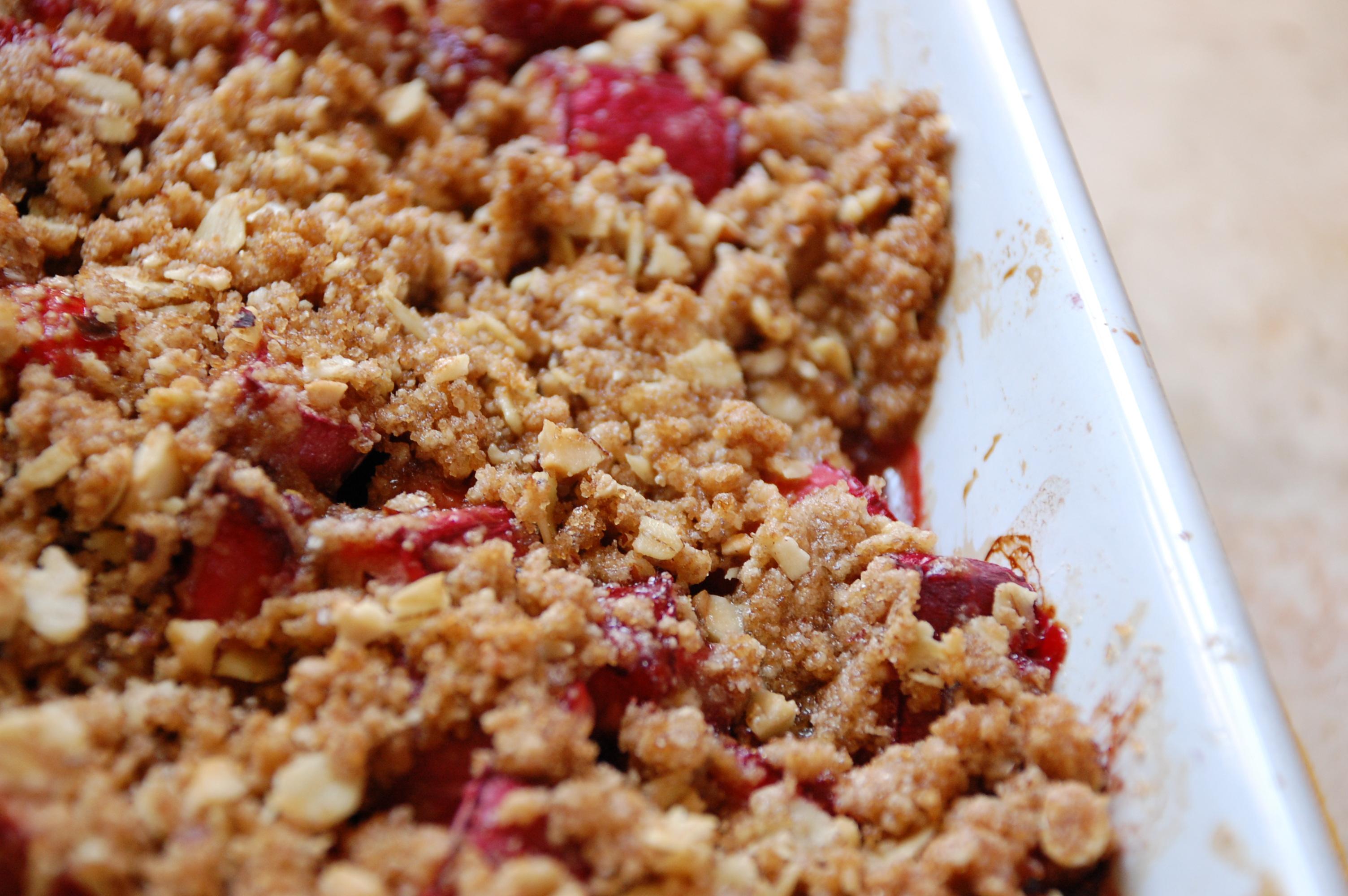 ... strawberry rhubarb crisp strawberry rhubarb crisp a strawberry rhubarb